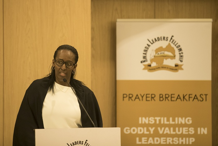 Madame Jeannette Kagame yari umushyitsi mukuru muri ayo masengesho