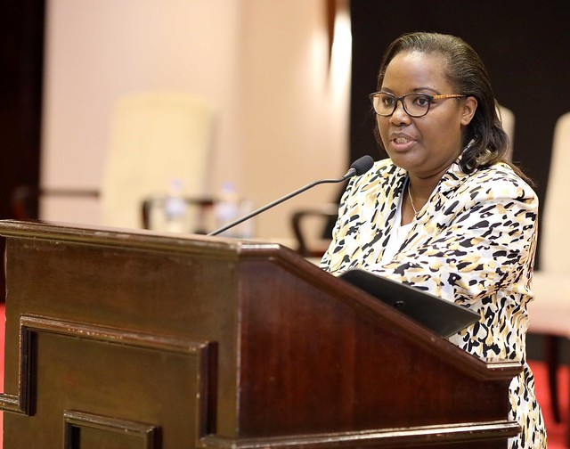 Minisitiri w'ubuhinzi n'ubworozi Dr Mukeshimana Gerardine