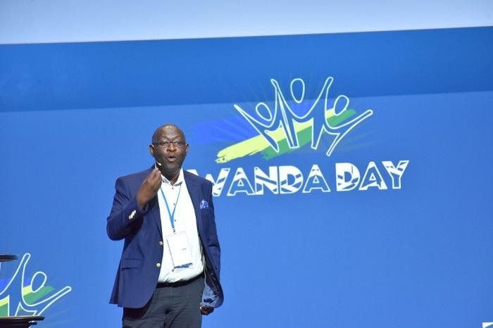 Alain Muku ubwo yari i Bonn mu Budage muri Rwanda Day yasobanuye uburyo yafashije Igisupusupu gutera imbere