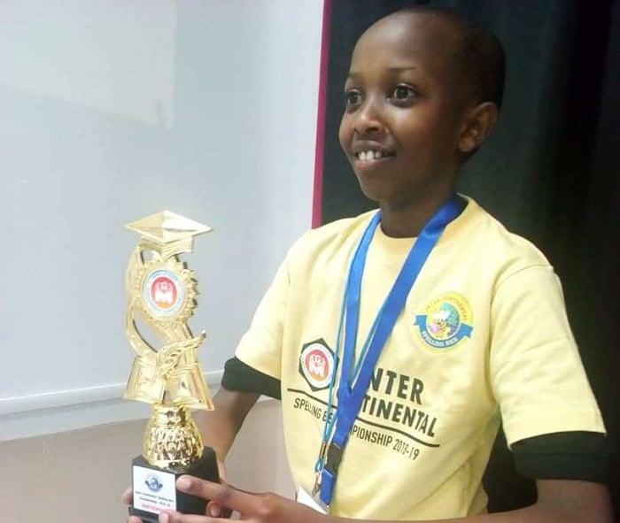 Brillant Rugwiro Musoni wiga kuri New Vision Primary School i Huye yabaye uwa 2 mu banyeshuri 150 mu marushanwa y