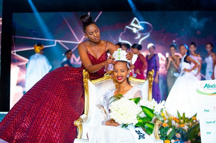 Nishimwe Naomie ni we wegukanye ikamba rya Miss Rwanda 2020 (Photo:Internet)