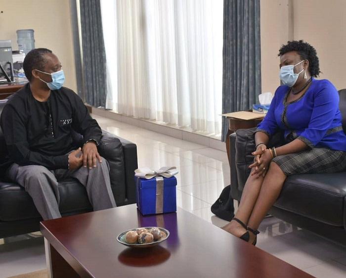 Depite Françoise Uwumukiza mu kiganiro na Minisitiri Shyaka