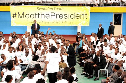 Ya &;meetthepresident&; iha umwanya abantu bakaganira na perezida