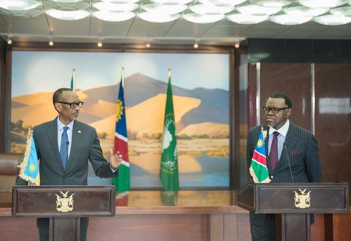 Perezida Kagame na Mugenzi we wa Namibia baganiriye n