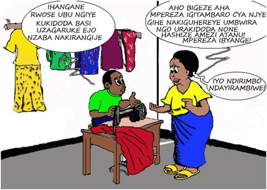 Bamwe mu abakora umwuga w'ubudozi bahemukira abakiriya babo mu igihe
