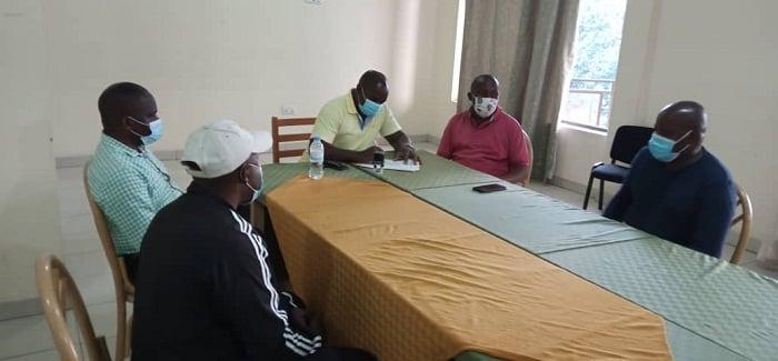 Bamwe mu bari bagize komite nyobozi ya Musanze FC