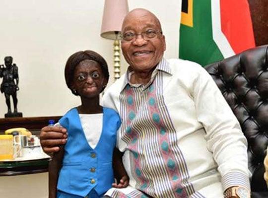 South Africa: Umwana urwaye gusaza vuba yizihije isabukuru ari kumwe na President Zuma #Rwanda via @kigalitoday