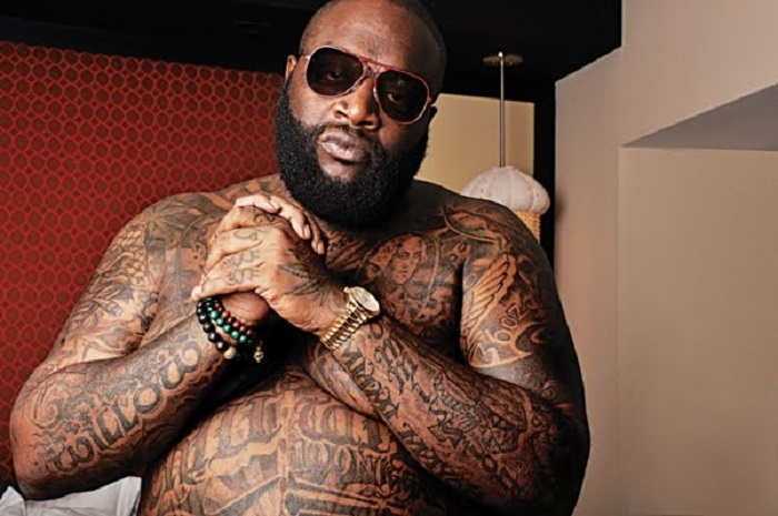 Umunyamerika Rick Ross, umwe mu bafite tatouage nyinshi ku mubiri we (Ifoto: Internet)