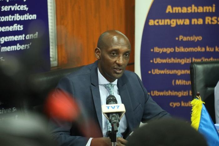 Richard Tusabe mu kiganiro n'abanyamakuru kuri uyu wa 19 Kanama 2019